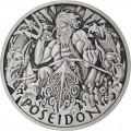 PM 1 oz silver GODS OF OLYMPUS 2020 ZEUS ANTIQUED $1