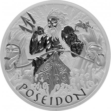 PM 5 oz silver GODS OF OLYMPUS 2021 ZEUS BU $1 MINTAGE 450 !