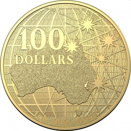 RAM 1 oz gold AUSTRALIA BENEATH THE SOUTHERN SKIES 2020 BU $100
