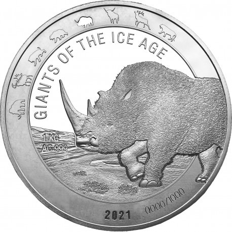 Ghana 1 kilo silver CAVE BEAR 2020 BU 1000 CEDIS