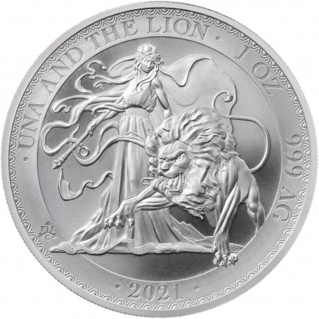 ST HELENA 1 oz silver UNA and the LION 2020 £1