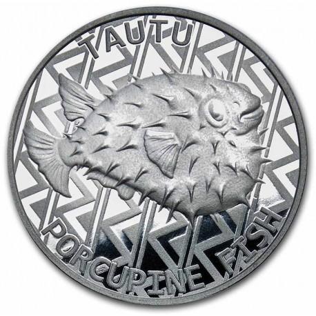 Tokelau 1 oz silver FLYING FISH 2020 $5