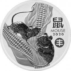 +++ PM Lunar 3 Mouse 1 oz silver 2020 BU $1 Privy Chinese Harvest +++