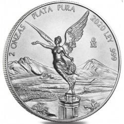 MEXICO 2 oz silver LIBERTAD 2016