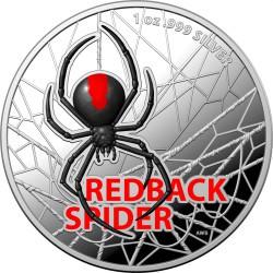 RAM 1 oz silver REDBACK SPIDER 2021 $1 Coloured Proof