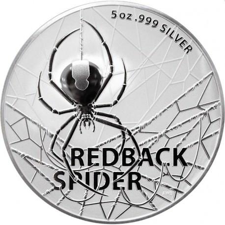 RAM 5 oz silver REDBACK SPIDER 2021 $5 BU