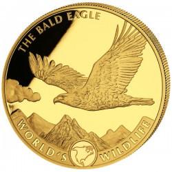 Wildlife 1 oz GOLD THE BALD EAGLE Congo 100 Fr