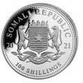 1 oz silver SOMALIA LEOPARD 2021 - 100 shillings coloured