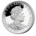 ST HELENA 1 oz silver UNA and the LION 2021 PROOF £1