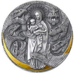 Cameroon 3 oz silver LADY AND THE DRAGON Apocalypse 2021 – 3000 Francs CFA