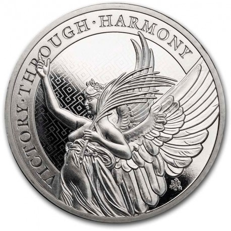 1 oz platinum St Helena Queen's Virtues 2021 Victory