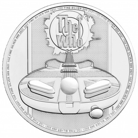 UK 1 oz silver THE WHO 2021 £2 Music legends