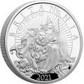 UK 1 oz silver 2021 £2 THE BRITANNIA CORE COIN RANGE PROOF Box + Coa