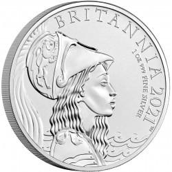 UK 1 oz silver 2021 £2 THE BRITANNIA PREMIUM EDITION COIN Box + Coa