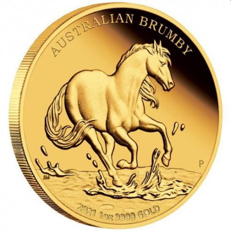 Perth Mint Australian Brumby 2021 1oz Gold Proof Coin