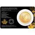 Canada Gold Maple Leaf 1 oz 2015 in essay card $50