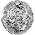 PM 1 oz silver SINGLE DRAGON 2021 $1 CHINESE MYTHS & LEGENDS