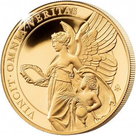 ST HELENA 1 oz GOLD The QUEEN'S VIRTUES VICTORY 2021 £100 proof VICTORIA CONCORDIA CRESCIT