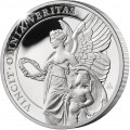ST HELENA 1 oz silver The QUEEN'S VIRTUES VICTORY 2021 £100 proof VICTORIA CONCORDIA CRESCIT