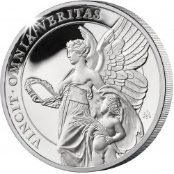 ST HELENA 1 oz silver The QUEEN'S VIRTUES THUTH 2021 £1 proof VINCIT OMNIA VERITAS