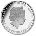 Niue 1 oz silver Queen Elizabeth II Long May She Reign 2021 $1 Proof Box + Coa