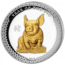 $5 PALAU Year of the PIG 2019