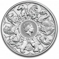 U.K. 2 oz silver QUEEN'S BEAST 2021 The WHITE GREYHOUND OF RICHMOND £5