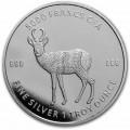 1 oz silver Mandala buffalo 2020 Chad 5000 CFA