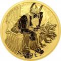 PM 1 oz GOLD GODS OF OLYMPUS 2021 POSEIDON BU $100 MINTAGE 100