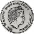 PM 1 oz silver GODS OF OLYMPUS 2021 POSEIDON ANTIQUED $1