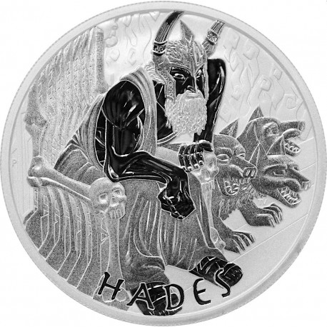 PM 1 oz silver GODS OF OLYMPUS 2021 HADES BU $1