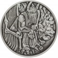 PM 5 oz silver GODS OF OLYMPUS 2021 HADES ANTIQUED $1 MINTAGE 50 !
