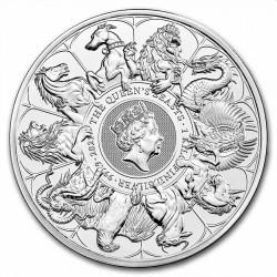 UK 1 KILO silver QUEEN'S BEASTS COMPLETER 2021 £500 BU