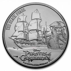 Niue 1 oz silver PIRATES OF THE CARIBBEAN 2021 $2 Black Pearl