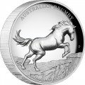 Perth Mint 2 oz silver Australian BRUMBY HORSE 2021 $2 PROOF