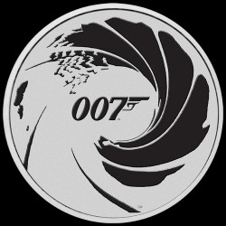 PM BLACK 1 oz silver JAMES BOND 2022 BLACK $1 BU FIRST OF COLOURED SERIES