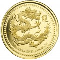Samoa 1 oz gold DRAGON 2024 Proof Like Coa + box