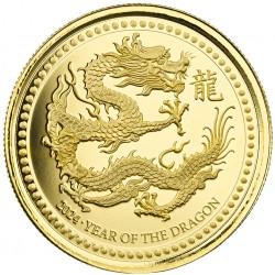 Samoa 1 oz gold DRAGON 2024 Proof Like Coa + box Mintage 888