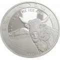 Ghana 1 oz silver GIANTS of the ICE AGE 2021 WOOLLY RHINO 5 Cedis