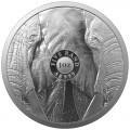 1 oz silver SAM BIG FIVE 2 ELEPHANT 2021 Rand 5 BU