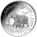 1 oz silver SOMALIA ELEPHANT 2021 Shillings 100
