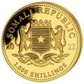 GOLD 1 oz ELEPHANT 2021 SOMALIA 1 000 shillings