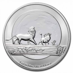 1 oz silver 25th anniversary LION KING TIMON PUMBAA 2021 $2 Hakuna Matata