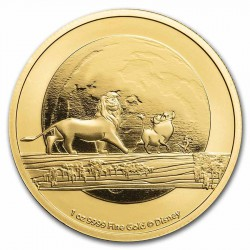 1 oz GOLD 25th anniversary LION KING TIMON PUMBAA 2021 $250