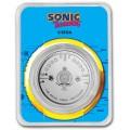 1 oz silver 35th Anniversary SONIC the Hedgehog 2021 $2 BU COLOURED