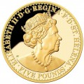 ST HELENA GOLD GOTHIC CROWN - Saint-Helena, Ascension and Tristan da Cunha 2022 Proof