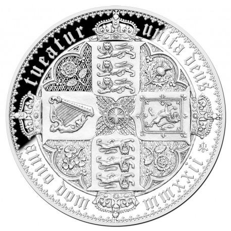 ST HELENA 1 KILO Silver GOTHIC CROWN - Saint-Helena, Ascension and Tristan da Cunha 2022 Proof