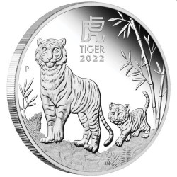 Australian Lunar Series III 2022 Year of the Tiger 1/2oz Silver Proof Coin