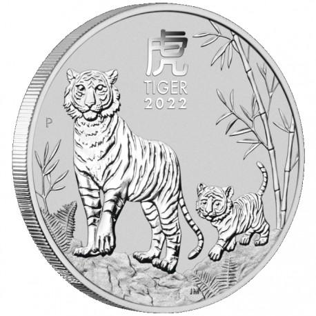 PM Lunar 3 TIGER 1 oz silver 2022 BU $1 Australia