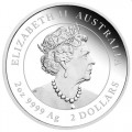 PM Lunar 3 TIGER 2 oz silver 2022 BU $2 Australia